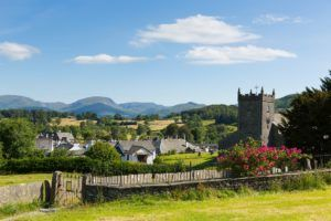 Hawkshead village in the Lake District